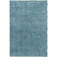 Hand-Woven Matthew Solid Pattern Wool Area Rug - 8' x 11'