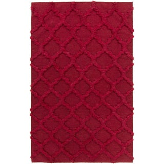 Hand-Woven Marilyn Lattice Pattern Wool Rug (8' x 11')