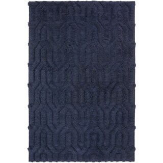Hand-Woven Matilda Solid Pattern Wool Rug (8' x 11')