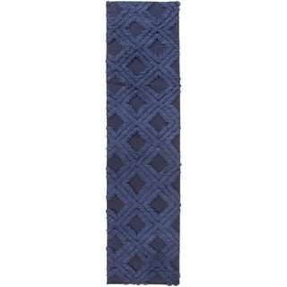 Hand-Woven Lucille Solid Pattern Wool Rug (2'6 x 8')