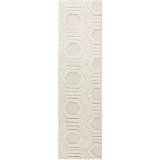 Hand-Woven Makenna Solid Pattern Wool Rug (2'6 x 8')