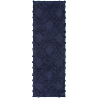 Hand-Woven Malcolm Solid Pattern Wool Rug (2'6 x 8')