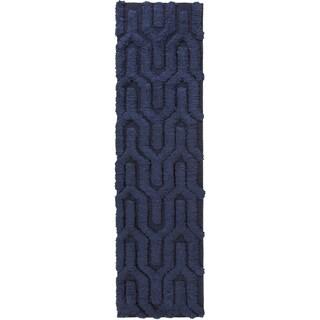 Hand-Woven Matilda Solid Pattern Wool Rug (2'6 x 8')