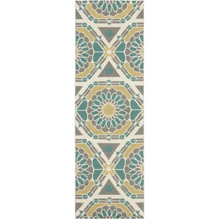 Hand-Knotted Catalina Medallion Pattern Wool Rug (2'6 x 8')