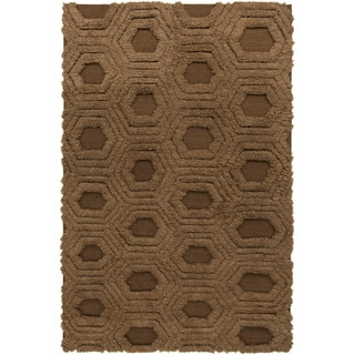 Hand-Woven Makenna Solid Pattern Wool Rug (2' x 3')