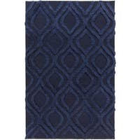 Hand-Woven Malcolm Solid Pattern Wool Area Rug - 2' x 3'