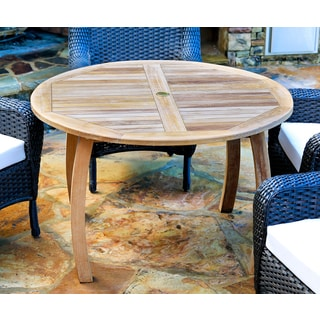tortuga outdoor teak 48inch dining table