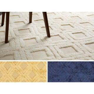 Hand-Woven Lucille Solid Pattern Wool Rug (8' x 11')