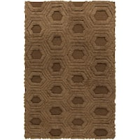 Hand-Woven Makenna Solid Pattern Wool Area Rug - 8' x 11'