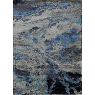 Hand-Tufted Jennie Banana Silk Indoor Area Rug - 8' x 11'