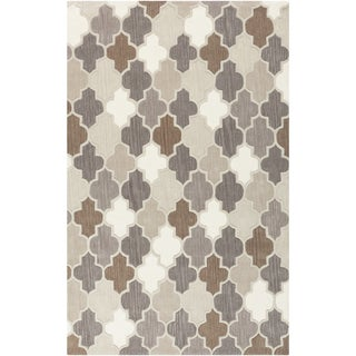 Hand-Tufted Randall Geometric Pattern Wool Area Rug