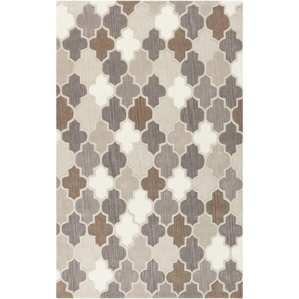 Hand-Tufted Randall Geometric Pattern Wool Area Rug