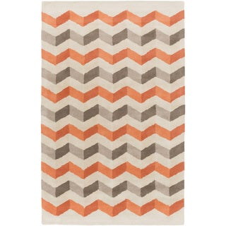 Hand-Tufted Quintin Geometric Pattern Wool Rug (8' x 11')