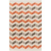 Hand-Tufted Quintin Geometric Pattern Wool Area Rug (8' x 11')