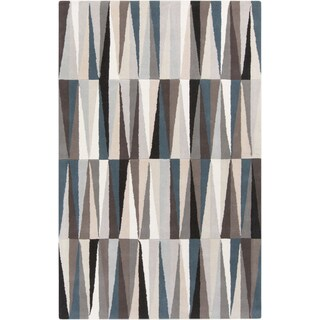Hand-Tufted Rox anne Geometric Pattern Wool Area Rug