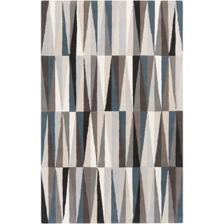 Hand-Tufted Roxanne Geometric Pattern Wool Rug (8' x 11')