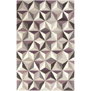 Hand-Tufted Roselyn Geometric Pattern Wool Area Rug