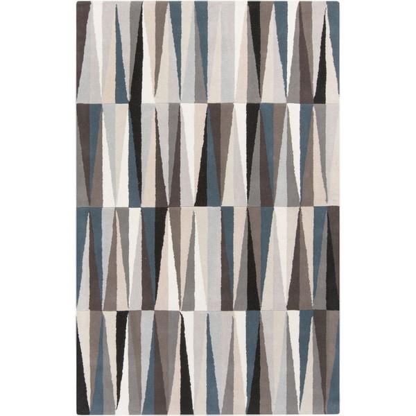 Carson Carrington Raahe Hand-Tufted Geometric Pattern Wool Area Rug