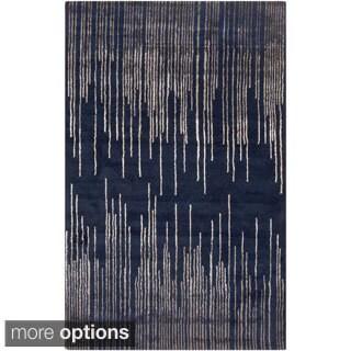 Hand-Tufted Camilla Geometric New Zealand Wool Rug (5' x 8')