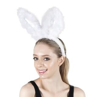 Marabou Bunny Ear Headband