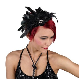 Feather Headband with Schlappen/ Stripped Hackle