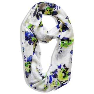 Vintage Inspired Floral Infinity Scarf