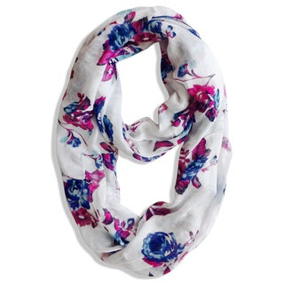 Vintage Inspired Floral Orchid Infinity Scarf