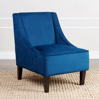 ABBYSON LIVING Cameron Navy Blue Swoop Chair