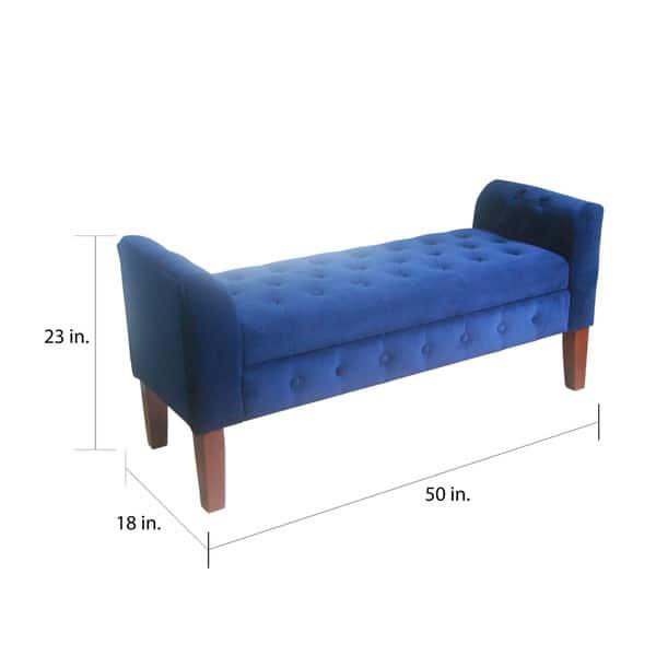 Terrific Shop Copper Grove Malakoff Navy Velvet Storage Bench Settee Bralicious Painted Fabric Chair Ideas Braliciousco