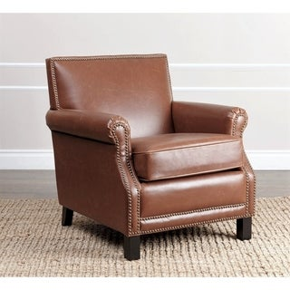 ABBYSON LIVING Chloe Antique Red Leather Club Chair