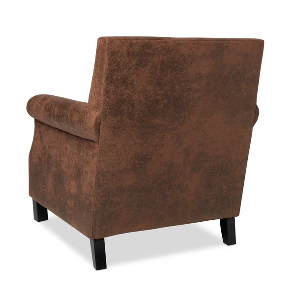 Abbyson Chloe Antique Brown Fabric Club Chair   Free Shipping Today    Overstock.com   16980818
