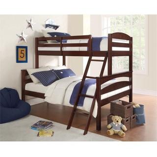 Dorel Living Brady Espresso Twin over Full Bunk Bed