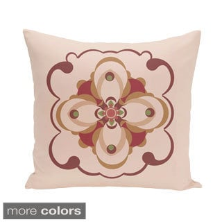 Abstract Floral Geometric 16-inch Decorative Pillow
