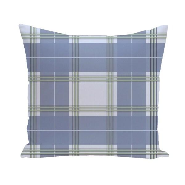 Plaid Geometric Accent 16-inch Pillow