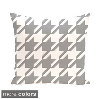 Houndstooth Geometric 16-inch Decorative Pillow