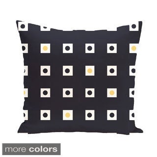 Abstract Checkerboard Geometric 16-inch Decorative Pillow
