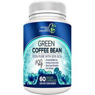 Pure Green Coffee Bean Extract 800 mg Dietary Supplement (60 Capsules)