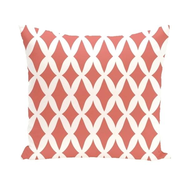Geometric Lattice 16-inch Decorative Pillow