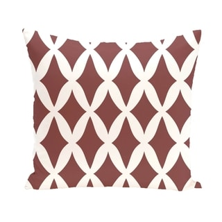 Lattice Geometric 16-inch Decorative Pillow