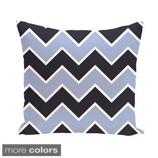 Chevron Geometric 16-inch Decorative Pillow
