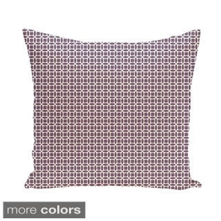 Abstract Trellis Geometric 16-inch Decorative Pillow