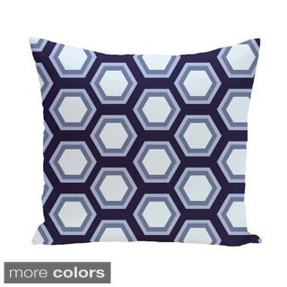 Large Honeycomb Geometric 16-inch Decorative Pillow