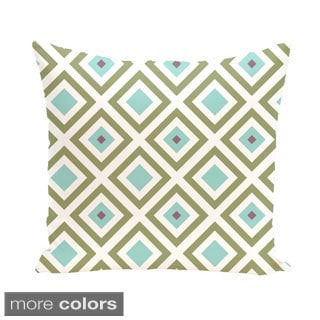 Abstract Diamond Geometric 16-inch Accent Pillow
