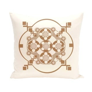 Circles and Diamonds Design 16-inch Decorative Pillow (Ivory)