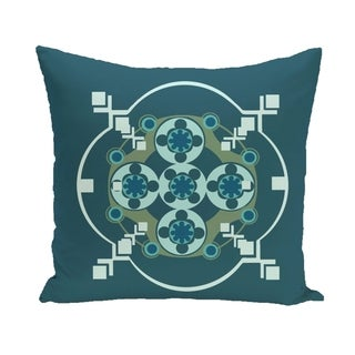 Circles and Diamonds Design 16-inch Decorative Pillow (Teal)