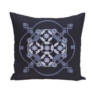 Circles and Diamonds Design 16-inch Decorative Pillow (Blue)