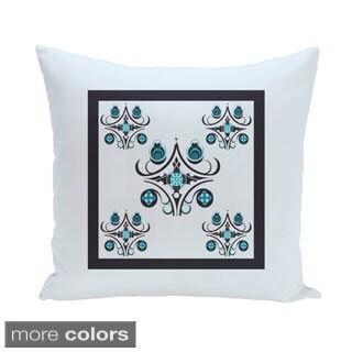 Elegant Circles Design 16-inch Decorative Pillow