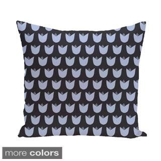 Simple Tulip Design 16-inch Decorative Pillow