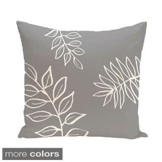 Simple Leaf Design 16-inch Decorative Pillow