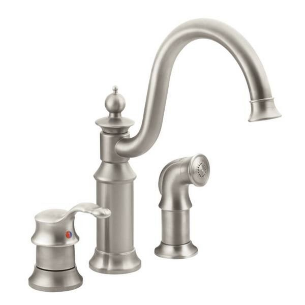 moen kitchen faucet brushed nickel shop moen waterhill s711srs brushed nickel kitchen faucet free shipping today overstock com 3529